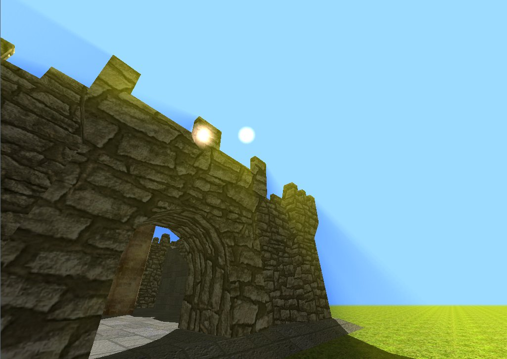 Max3D - Castle Demo with Godrays Shader and Mouse Pick  Ray Casting