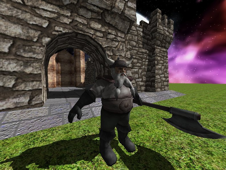 Max3D - Castle Demo with 3D Mesh and Shadows and Mouse Pick  Ray Casting